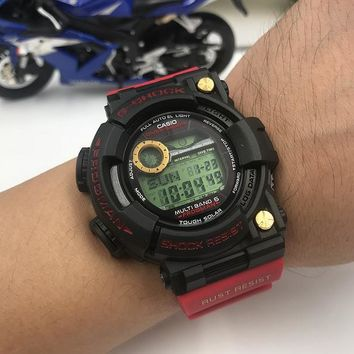 DCCK C015 Casio G Shock GWF-1000 Plastic Straap Frogmman Resist Fashion Electronic Watches Black Red Gold
