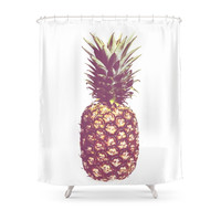 Society6 Pineapple Shower Curtain