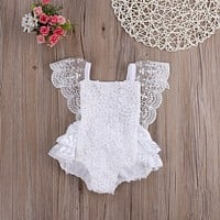 Cute Newborn Infant Baby Girl Clothes Lace Tutu Romper Sleeveless Cake Sunsuit Outfits