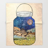 Star Jar Throw Blanket by Jenndalyn | Society6