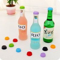 6 pcs/lots Colorful silicone wine stopper keep beer wine fresh Wine Bottle Stopper Champagne Stopper Cap Top Cover lid Bar Tools