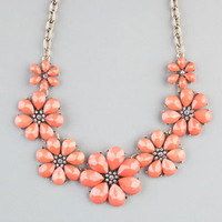 FULL TILT Facet Flower Statement Necklace