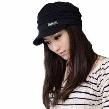 DCCKHY9 Best Deal Fashion Bouffancy Unisex Army Military Cap Flat -Top Hat Student Hat Vintage Navy Free Shipping 1pcs