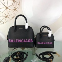 KUYOU Balenciaga Trendy graffiti shell bag 26-12-22CM Samll 18-8-15CM Black Purple
