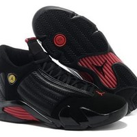 Cheap Air Jordan 14 Retro Men Shoes Black Red