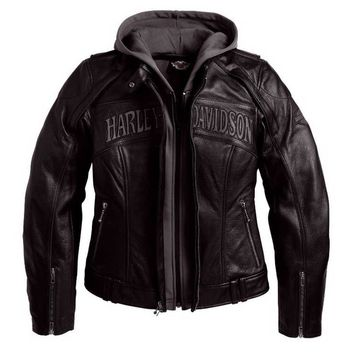 Harley-Davidson Women's Reflective Skull 3-in-1 Leather Jacket, Black 98152-09VW
