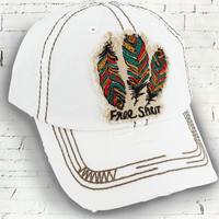Distressed Free Spirit Patch Hat - 2 Colors