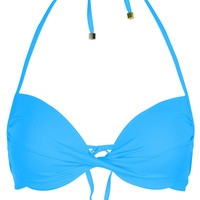 Azure Twist Plunge Bikini Top - Swimwear - Clothing - Topshop USA