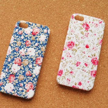 Floral iPhone 4 Case, Floral iPhone 5 Case, Cloth iPhone 4 Case, fabric iphone 4 Case, Fabric iPhne 5 Case