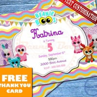 "Beanie Boo Birthday Invitation - ""BEANIE BOO BIRTHDAY invitation"" Card Beanie Boo - Beanie Boo Invites - Birthday Party Ideas Printable"