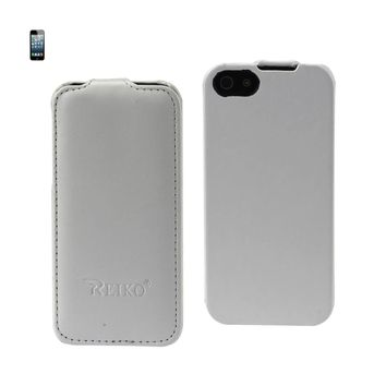 FITTING CASE APPLE IPHONE 5 HORSE SKIN PATTERN WHITE