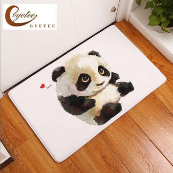Autumn Fall welcome door mat doormat [Byetee] Cartoon Animal Entrance s Funny Lovely Panda Bear Lion Pattern Rugs Thin Flannel Kitchen Bedroom Rugs 40*60cm AT_76_7