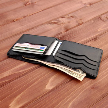 leather wallet,mens leather wallet,minimalist wallet,card holder wallet , thin leather wallet ,black wallet  ,christmas gift