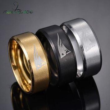 Nextvance 8mm Tungsten New England Patriots Ring Sport Football Team Logo Band Rings For Fans Gift Unisex Jewelry Bague