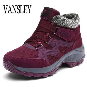 Women Snow Boots Winter Shoes Warm Plush Krasovki Ankle Boots 2018 Brand Female Casual Shoes Wedge Snow Sexy Boots Waterproof