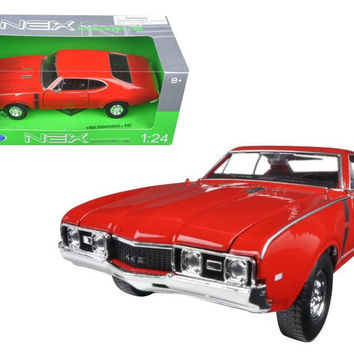 1968 Oldsmobile 442 Red 1-24 Diecast Model Car by Welly