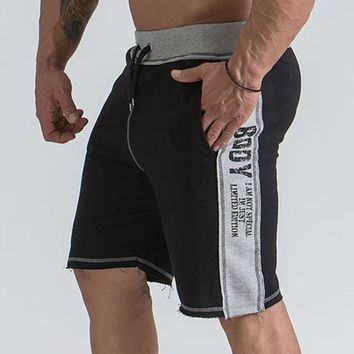 Mens gym cotton shorts Running jogging outdoor sports Fitness Sweatpants male workout Crossfit clothing Brand short pants