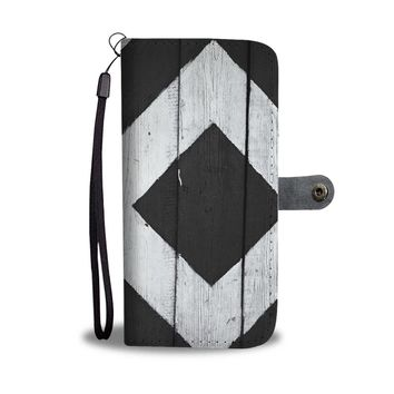 DIAMOND PATTERN PHONE WALLET CASE