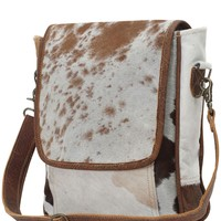 Myra Bag Genuine Leather with Cowhide Sling S-0771