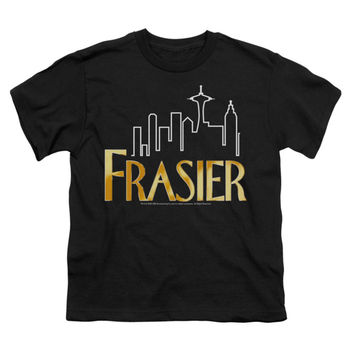 Frasier Men's  Frasier Logo T-shirt Black Rockabilia