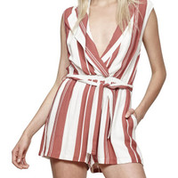 Stripe Draped Playsuit | David Jones