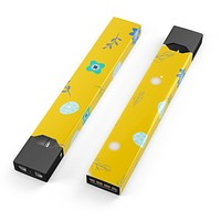 Skin Decal Kit for the Pax JUUL - Bright Blue Flowers and Egg Pattern
