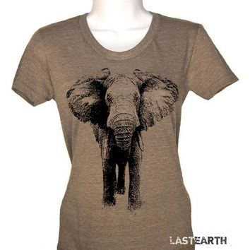 Elephant T Shirt - Womens Graphic Tees - Mens Tshirt - Kids Tshirts - Vintage T Shirt Safari Tee Zoo Shirt Party Circus Themed Party