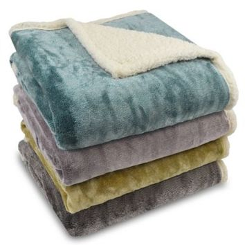 Harper Micro-Mink to Sherpa Reversible Throw