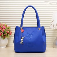"""Yves Saint Laurent YSL"" Women Fashion Simple Letter Embossed Handbag Single Shoulder Bag"