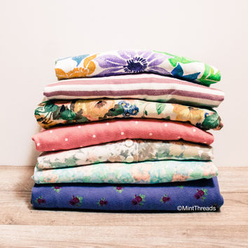 Mystery Vintage Patterned Oversized T Shirts