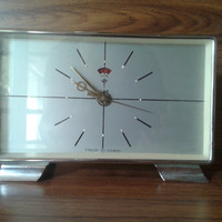 "The Vintage Clock from 60s-70s, Has Metal Case and Manual Winding, Vintage Clock ""POLARIS"""