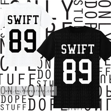 Taylor Swift 1989 Shirt Jersey Muscle Tee