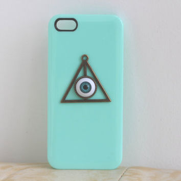 Hard iPhone 4 / 4s Case, iPhone 5 Cover, Bronze Deathly Hallows Protection Cover, Evil Eye Phone Case, Personalized Trending Accessories