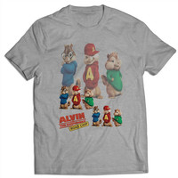 Alvin And The Chipmunks Road Chip Logo T Shirts Mens T Shirt