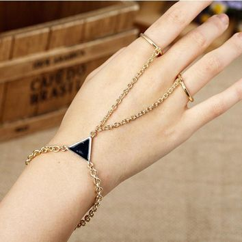 Gift Stylish Awesome Hot Sale Shiny Great Deal New Arrival Accessory Punk Leaf Necklace Ring Chain Bracelet [8804751367]