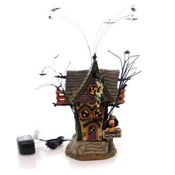 Department 56 House Poe's Perch Aviary Village Animated Building