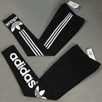 """ Adidas "" Like Fashion Print Exercise Fitness Gym Yoga Running Leggings Sweatpants"