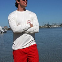 FieldTec Pocket Tee - Long Sleeve in White by Southern Marsh