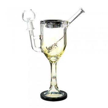 "10.5"" USA Fumed Wine Glass Rig by Luxor Black 14mm"