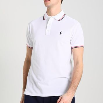 Polo Ralph Lauren Custom Fit - Polo Shirt - White - Beauty Ticks