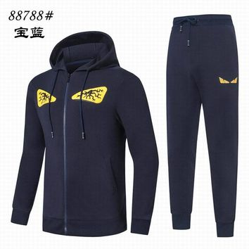 Fendi Men jogger set hoodies and sweatshirts
