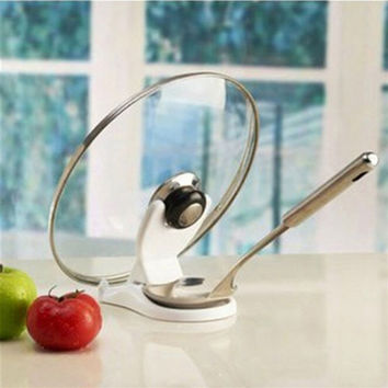 Kitchen Spoon Pot Lid Shelf Pot Cover holder/dispenser/pot lid Racks Pot Pan Racks Cooking Tools Storage Free Shiping JS0137
