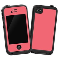 Coral Skin  for the iPhone 4/4S Lifeproof Case by skinzy.com