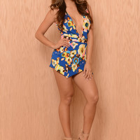 Blue Hawaii Romper