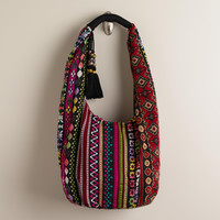 Oversized Woven Hobo Bag - World Market