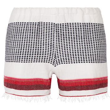 LemLem - Lula striped cotton-blend gauze shorts