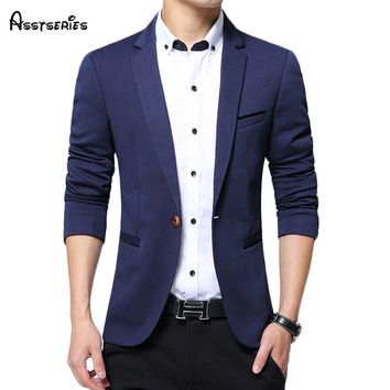 Free shipping 2018  Design Men Blazers Fashion Men Suit Slim Autumn Cotton Jacket For Men Casual cardigan 55hfx