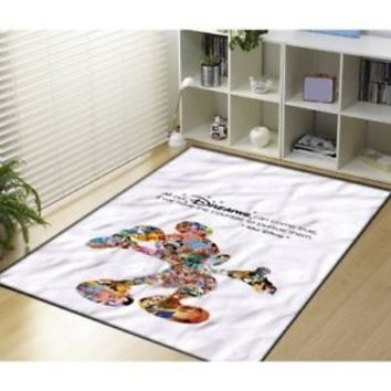 Walt Disney Dreams Quote Mickey Mouse Character Custom Blanket Size 58x80 Inch
