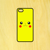 Pokemon Pikachu Face Phone Case iPhone 4 / 4s / 5 / 5s / 5c /6 / 6s /6+ Apple Samsung Galaxy S3 / S4 / S5 / S6