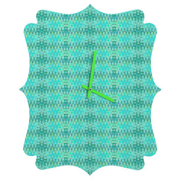 Ingrid Padilla Beauty Blue Quatrefoil Clock